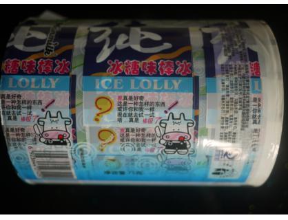 Eis-Lutschbonbon Verpackung Rolle